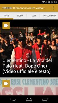 Clementino news video testi apk screenshot