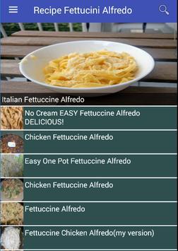 Recipe Fettucini Alfredo poster