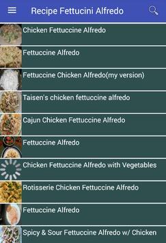 Recipe Fettucini Alfredo apk screenshot