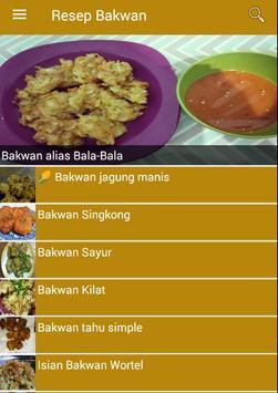 Resep Bakwan poster