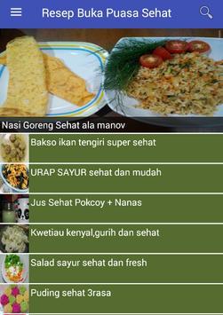 Resep Buka Puasa Sehat screenshot 1