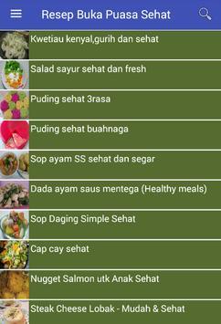 Resep Buka Puasa Sehat screenshot 2
