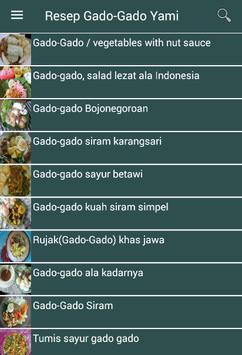 Resep Gado-Gado Yami screenshot 1