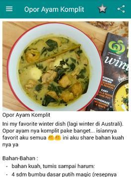 Resep Opor Ayam apk screenshot