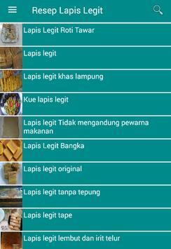 Resep Lapis Legit screenshot 1