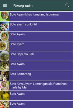 Resep soto screenshot 1