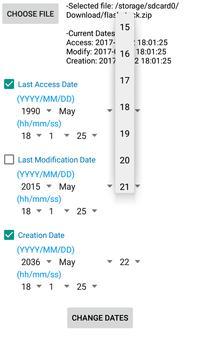 File Timestamp Date Changer (ROOT) apk screenshot
