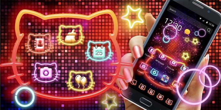 Neon Kitty Wallpaper & Icons screenshot 3