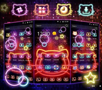 Neon Kitty Wallpaper & Icons screenshot 9