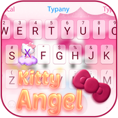 Kitty Angel: Pink and lovely Theme&Emoji Keyboard icon