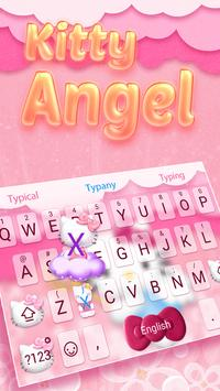 Kitty Angel: Pink and lovely Theme&Emoji Keyboard poster