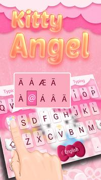 Kitty Angel: Pink and lovely Theme&Emoji Keyboard screenshot 1