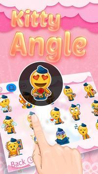 Kitty Angel: Pink and lovely Theme&Emoji Keyboard apk screenshot