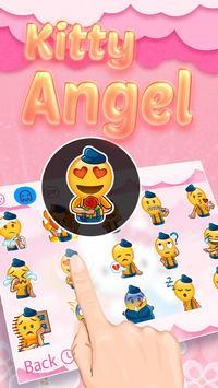 Kitty Angel: Pink and lovely Theme&Emoji Keyboard screenshot 2