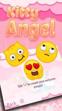 Kitty Angel: Pink and lovely Theme&Emoji Keyboard screenshot 3