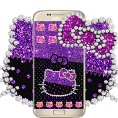 Purple Black Kitty icon