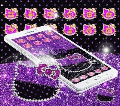 Purple Black Kitty apk screenshot