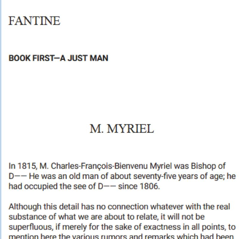 Fantine Vol I Les Misrables By Victor Hugo 5