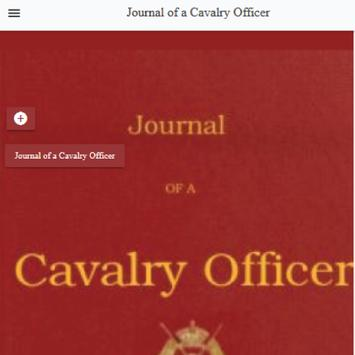 Journal of a Cavalry Officer by W.  Humbley poster
