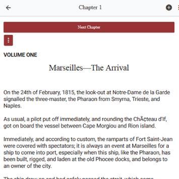 The Count of Monte Cristo novel by Alexandre Dumas apk screenshot