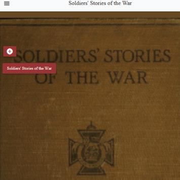 Soldiers' Stories of the War poster