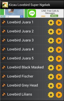 Kicau Lovebird Super Ngekek apk screenshot
