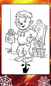 Kids Coloring Book Halloween poster