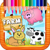 Coloring Farm for kids icon
