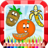 Coloring food icon