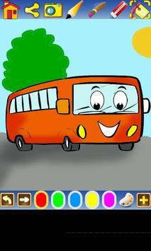 Coloring Transportation poster