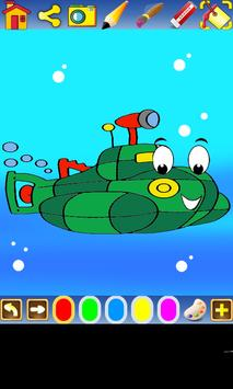 Coloring Transportation screenshot 1