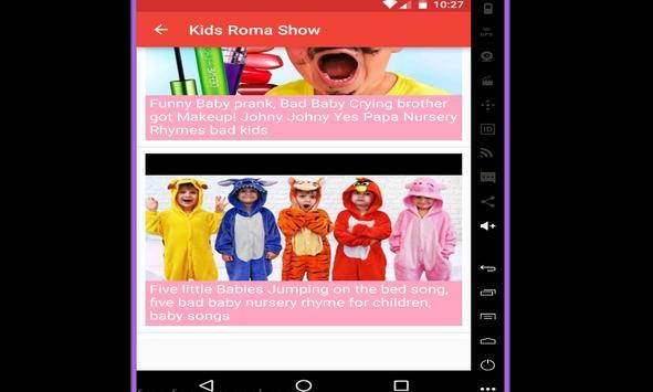 Kids Roma Show Youtuber screenshot 2