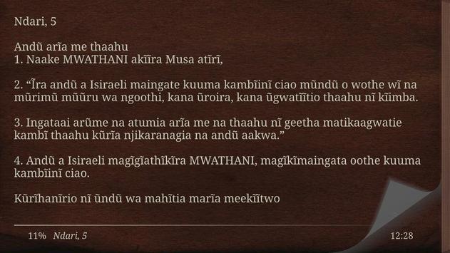 Kikuyu Bible screenshot 11