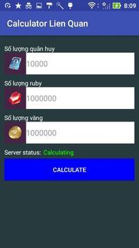 Quan Huy Lien Quan Mobile Calculator poster