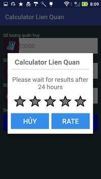 Quan Huy Lien Quan Mobile Calculator screenshot 1