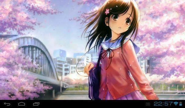 Anime Girl Live Wallpaper Apk Screenshot