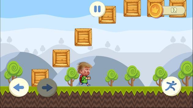 Running Trump poster