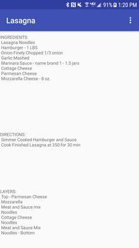 Lasagna Recipe poster