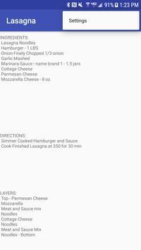 Lasagna Recipe apk screenshot
