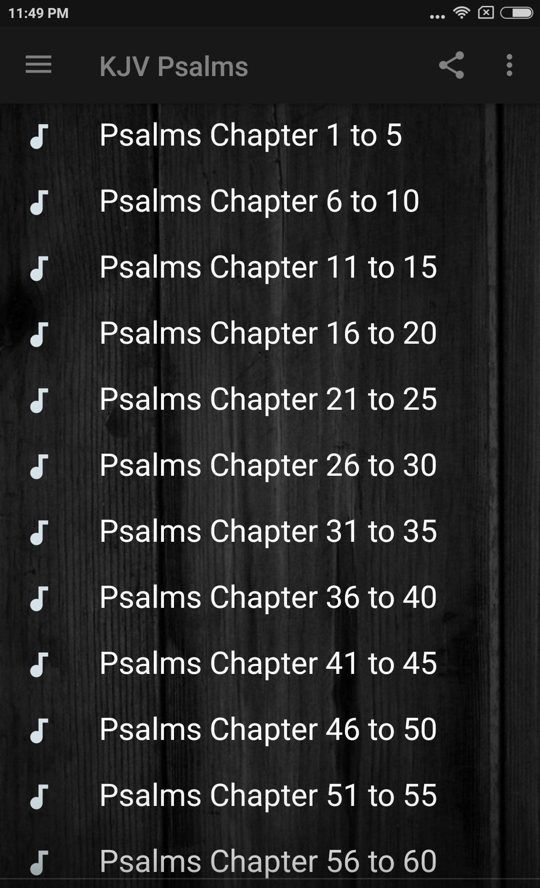KING JAMES BIBLE (KJV): PSALMS AUDIO for Android - APK Download