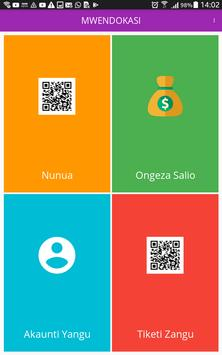 Mwendokasi App poster