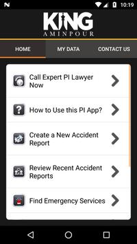 King Aminpour Accident Help App screenshot 1