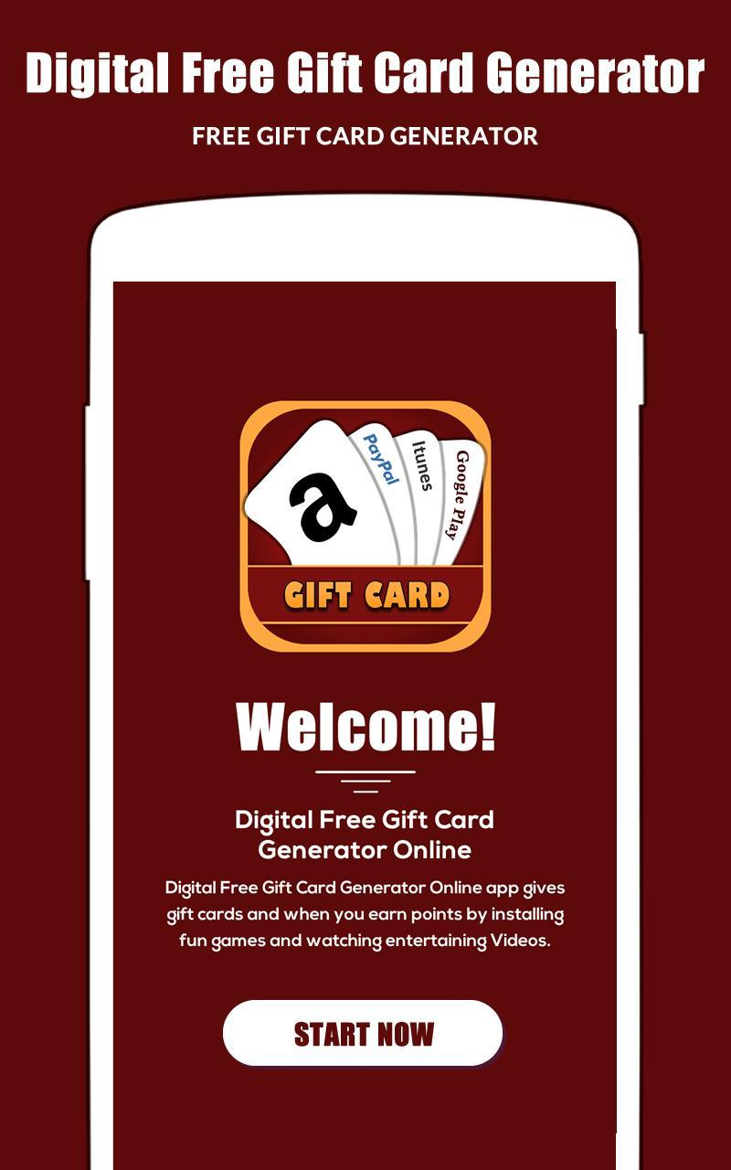 Digital Free Gift Card Generator Online for Android - APK Download