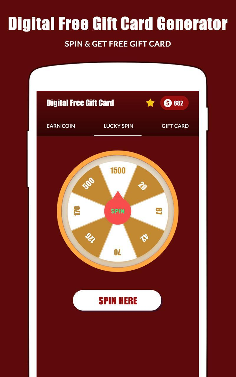 Digital Free Gift Card Generator Online for Android - APK