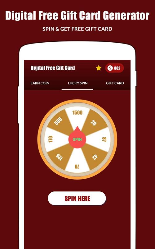 digital free gift card generator online for android apk download
