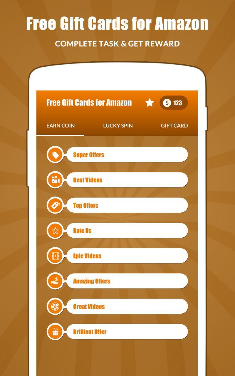 Free Gift Cards for Amazon - Amazon Gift Cards for Android