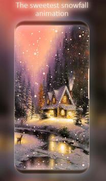 Snowfalling Live Wallpaper poster
