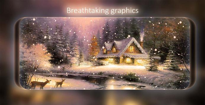 Snowfalling Live Wallpaper screenshot 7