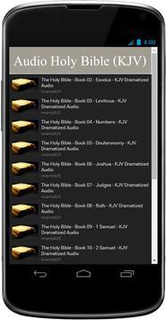 KJV Audio Bible Free App poster