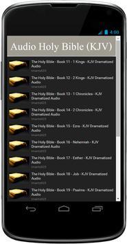 KJV Audio Bible Free App apk screenshot